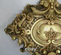 10 Antique French Furniture Bronze Gilt Mounts Medallion Decoration Louis XV