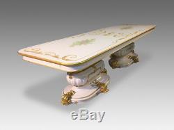 10ft Opulent & Amazing Louis XVI style dining table set pro French polished