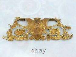 15 HUGE French Gilded Bronze RAM Louis XV Pediment Hardware Furniture Salvage