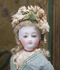 17 Rare Antique French Fashion Bisque Doll Poupee Parisienne by Louis DOLEAC