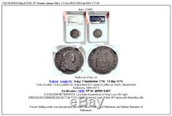 1720 FRANCE King LOUIS XV Genuine Antique Silver 1/3 Ecu FRENCH Coin NGC i73481