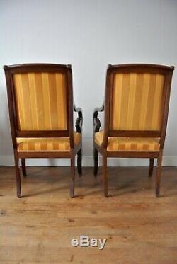 1840 French Jeanselme Louis Philippe Three Piece Suite (Sofa + 2 Fauteuils)