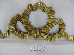 19 Antique French Gilded Bronze Furniture Pediment Decoration-Ribbon Louis XVI