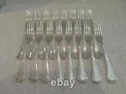 1900 French 950 silver 32p dessert luncheon cutlery set E Puiforcat Louis XVI st