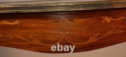 1900s Antique French Louis XV Walnut & Satinwood Inlay Center table / Hall table