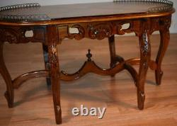 1920s antique French Louis XV Walnut & Satinwood inlay Coffee table