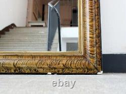 19th Century French Louis Philippe Faux Grained Overmantel Mirror