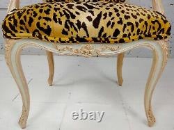 19th c. French Louis XV Armchair withBeautiful Leopard Print Upholstery
