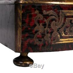 A French Louis XIV style tortoiseshell Boulle marquetry liquor casket