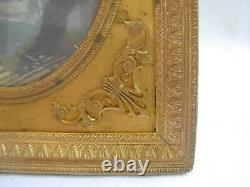 ANTIQUE FRENCH GILT BRONZE BRASS PHOTO FRAME, LOUIS XV STYLE LATE 19th CENTURY