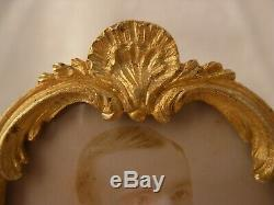 ANTIQUE FRENCH GILT BRONZE PHOTO FRAME, LOUIS XV STYLE, LATE 19th CENTURY
