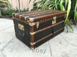 ANTIQUE FRENCH GOYARD STEAMER TRUNK LV louis vuitton Cabin purse louis vuitton