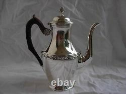ANTIQUE FRENCH STERLING SILVER COFFEE, TEA POT, LOUIS XVI STYLE, EARLY 20th CENTURY