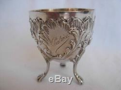 ANTIQUE FRENCH STERLING SILVER EGG CUP, LOUIS 15 STYLE, LATE 19th CENTURY