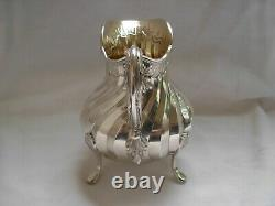 ANTIQUE FRENCH STERLING SILVER MILK JUG, CREAMER, LOUIS 15 STYLE, 19th CENTURY