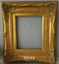 Abbé Classic French Louis XV, antique gold-leaf With gold liner wood frame 16x20