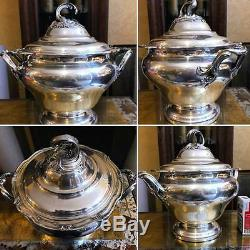 Antique 1880 French Louis XV Sterling Silver Soup Tureen Henin & Cie