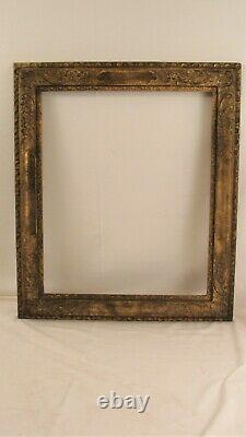 Antique 19C French Carved Gilt Wood Picture Frame