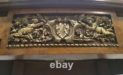 Antique 19h Louis XVI Gilt Bronze Mounted Angel Cherub Scene Marble French Table
