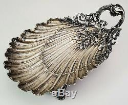 Antique 19th C French Louis XV Sterling Silver Shell Form Footed Bowl -v. Boivin