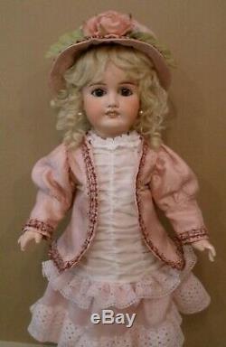 Antique 22 1/2 French Louis Prieur perfect bisque head doll, original body