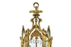 Antique 27 French Hall Gilt Bronze Lantern Chandelier Rococo Louis