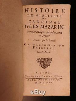 Antique Books, Jesuit Cardinal Mazarin Italian, 1673, Richelieu Louis, (1600s)