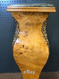 Antique Burl / Ormolu french Louis XV Pedestal/Plant Stand