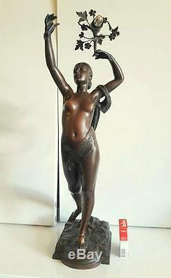 Antique French Bronze Sculpture Nude Woman Of Jean Louis Gregoire