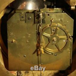 Antique French Cartel Wall Clock Ormolu Gilt Bronze Louis XVI