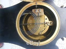 Antique French Clock Louis XV Style Ormolu Decortation