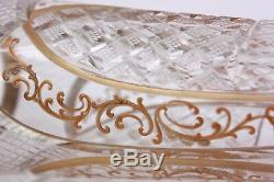 Antique French Cut Glass and Gold Gilt St Louis Vase Circa 1900