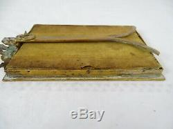 Antique French Gilt Dore Bronze Picture Frame Louis XVI Ribbon