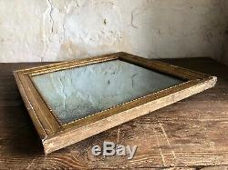 Antique French Gold Leafed Square Mirror c1800 Louis XVI nicely foxed