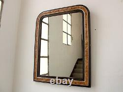 Antique French Louis Philippe Faux Grained Overmantle Mirror