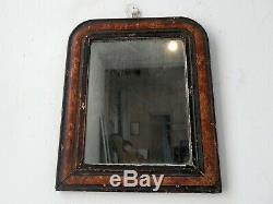 Antique French Louis Philippe Faux Marble Mirror