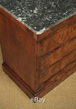 Antique French Louis Philippe Marble Top Chest Of Drawers c. 1840