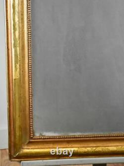 Antique French Louis Philippe mirror with gilt frame and mercury glass 25¼ x 35