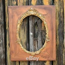 Antique French Louis XV Gilt Edged Decorative Frame Picture Fruitwood Medium