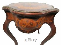 Antique French Louis XV style inlaid centre table # SK14