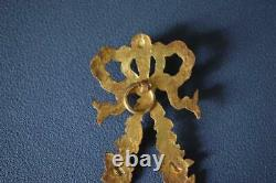 Antique French Louis XVI Bronze Wall Hanging Photo Frame 1