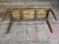 Antique French Louis XVI Cane Bench