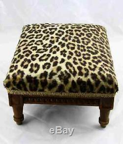 Antique French Louis XVI Carved Walnut Foot Rest Footstool
