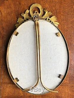 Antique French Louis XVI Style Oval Picture Frame 7 x 4.5