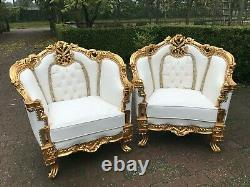 Antique French Louis XVI set of 2 chairs