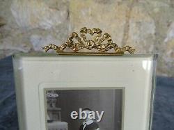 Antique French Nap III Bronze&Beveled Glass Photo Frame Louis XVI Ribbon 8tall
