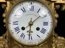 Antique French Ormolu Bronze Tiffany Co Parts Clock Case Barbedienne Louis XVI