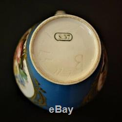 Antique French Porcelain Sevres Jug And Underplate. Louis Philippe Initials 1847