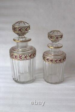 Antique French Saint Louis crystal vanity set c 1920