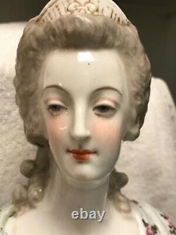 Antique French Sevres Porcelain bust of Louis XVI and Maria Antoinette